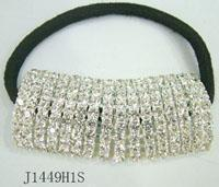 China Crystal Rhinestone Hair Band Rope Elastic Ponytail Holder on sale