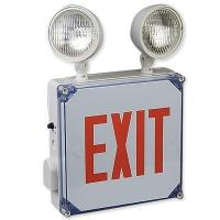 Quality Big Beam Wet Location LED Exit Sign with Emrgency Lights for sale