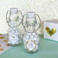 China Personalized Metallic Foil Mini Glass Bottles - Baby on sale