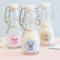 China Vintage Baby Personalized Mini Glass Bottles on sale