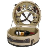 Buy cheap Picnic & Beyond Wooden Picnic Basket for 2 from wholesalers