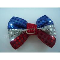 Quality LED flashing sequin bow tie-13002 for sale