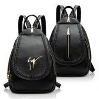China Daily Small Fashion Ladies Backpack Black Korean Style PU Leather Vintage on sale