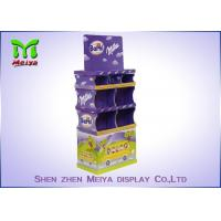 POS Free Standing Cardboard Displays For Promotional Chocolate Sugar Candy