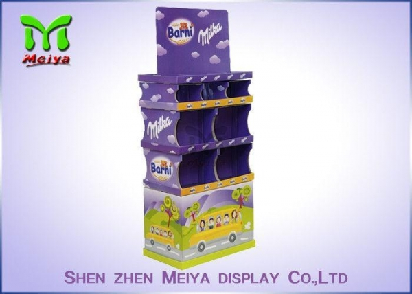 Buy POS Free Standing Cardboard Displays For Promotional Chocolate Sugar Candy at wholesale prices