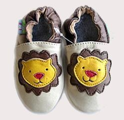 Buy Baby Cowskin shoes (Yellow Lion) at wholesale prices