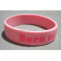 Quality Silicone Wristband Product name:Silicone Wristband,Pink Imprinted Wristband for sale