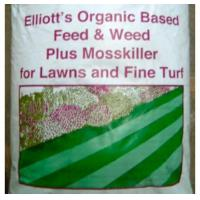Quality Fertilisers Organic Based Lawn Feed and Weed plus Mosskiller - 20KG for sale