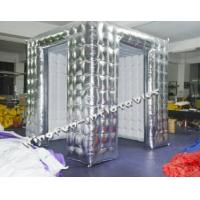Quality LED inflatable photo booth Silver inflatable booth tent Details for sale