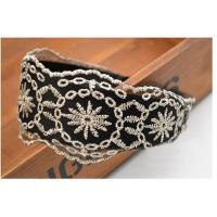 China Hollow Flower Lace Wide Headband Headband Hair Band on sale