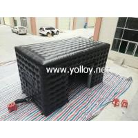 Buy cheap Inflatable Dome Tent Commercial Black Advertising Inflatable Cube Tent from wholesalers