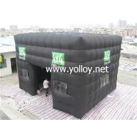 Buy cheap Inflatable Dome Tent Black Photo Making Inflatable Cube Tent from wholesalers