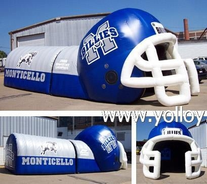 Buy Inflatable Dome Tent Inflatable Football Helmet Tunnel Tent at wholesale prices
