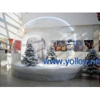 Quality Inflatable Dome Tent Clear Inflatable Snowman Christmas Snow Globe for sale