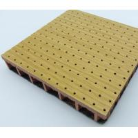 Quality MDF soundproof wall covering wooden perforated acoustic pane for sale