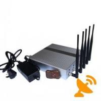 Quality Desktop Remote Control GPS Jammer Cell Phone Blocker Jammer Device With 5 Powerful Antenna for sale