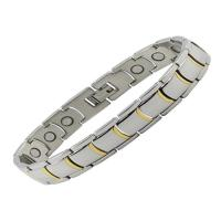 China Magnetic Health Chain Men Charm Jewelry Stainless Steel Bracelet For Men on sale