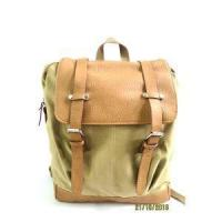 Quality Canvas Leather Backpack Good Small Travel Satchel Backpack For Adults Boys for sale