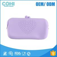 Long rectangle silicone rubber wallet ,lady coemetic bags,kids toy bags