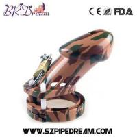 Buy cheap Camouflage color Male chastity device camouflage chastity cage male chastity belt from wholesalers