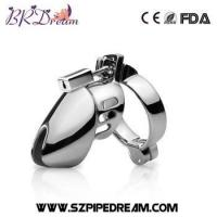 Buy cheap Metal male chastity device cock cage penis ring male chastity belt penis lock from wholesalers