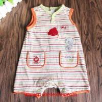 Quality Casual Striped Cotton One Piece Romper with Pockets for Babies for sale