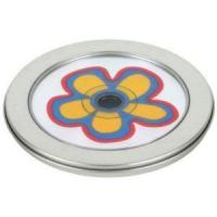 Quality Round Slip Lid CD Tin with Window and Tray for sale
