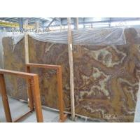 China TIGER marble/tiger onyx/red onyx/red marble Blocks and Slabs for sale