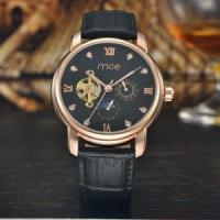 custom automatic chinese mechanical movement leather mens watch