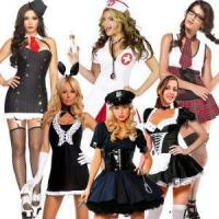 China Sexy Karneval Hen Party Cop Police Gangster Nurse Maid School Girl Fancy Dress Costume on sale