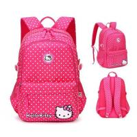 China Backpack Dot Allover Printing School Bags Collection Backpack With High Quality For Children on sale
