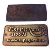 Quality VT 1.2Inch Custom Engraved Metal Plates for sale