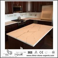 China White Calacatta Engineered Quartz Stone Kitchen Countertops with Cheap Cost for sale