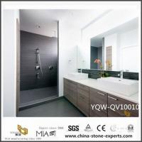 China Cheap White Quartz Vanity Tops with Double Sink for Bathroom Decoration for sale