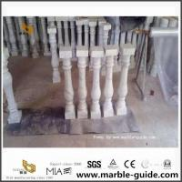 Bianco White Marble Baluster For Hotel Stairs,Office Buildings,Bar Decor for sale
