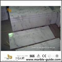 Guangxi White Marble Stairs /Staircase /Steps For Hotel Indoor Decor for sale