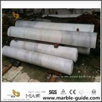 Guangxi White Marble Column For Outdoor Decoration From China Stone Factory for sale