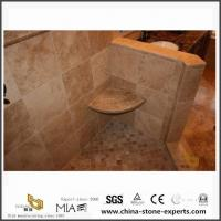 Custom Italy Polished Noce Coffee Brown Travertine Slab for Bathroom from Stone Company for sale