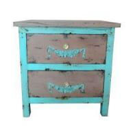Buy cheap Small Rustic Wood Nightstands Vintage Bedside Chest of Drawers from wholesalers