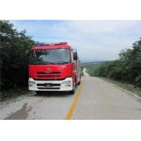 China Speed Ratio 1.48 Water Tanker Fire Truck Six Seats Water Shot Range ≥75m on sale