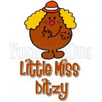 Mr. Men and Little Miss Ditzy T Shirt Iron on Transfer #13