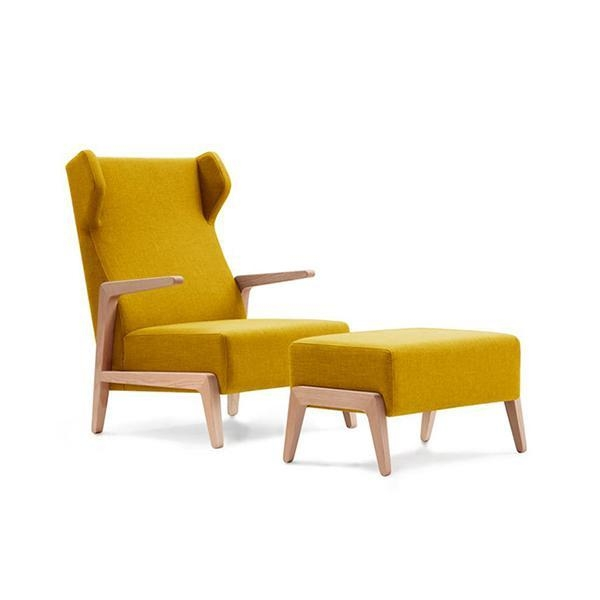 Buy Modern Boomerang Chair with Ottoman For Living Room at wholesale prices