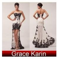 Quality Evening Dresses High-Low design full length evening gown CL6044 for sale