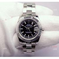 China Fake Rolex Datejust Stainless Steel President Black Dial Midsize 31mm Womens Design Watch on sale