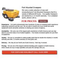Quality Fork Mounted Sweepers for sale