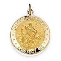 China Design Your Own U.S. Army St Christopher 5/8in Medal - 14k Yellow Gold on sale