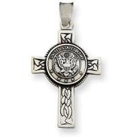 Quality Design Your Own Sterling Silver 1 1/4in U.S. Army Cross Pendant for sale