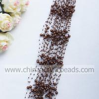 Quality 3*8MM beaded garland wire pearl beaded spray with--YZB002- 19 for sale