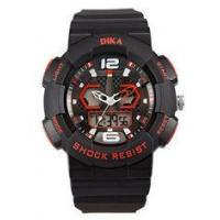 Quality Popular durable mens digital wrist watches In Black And Red Color for sale
