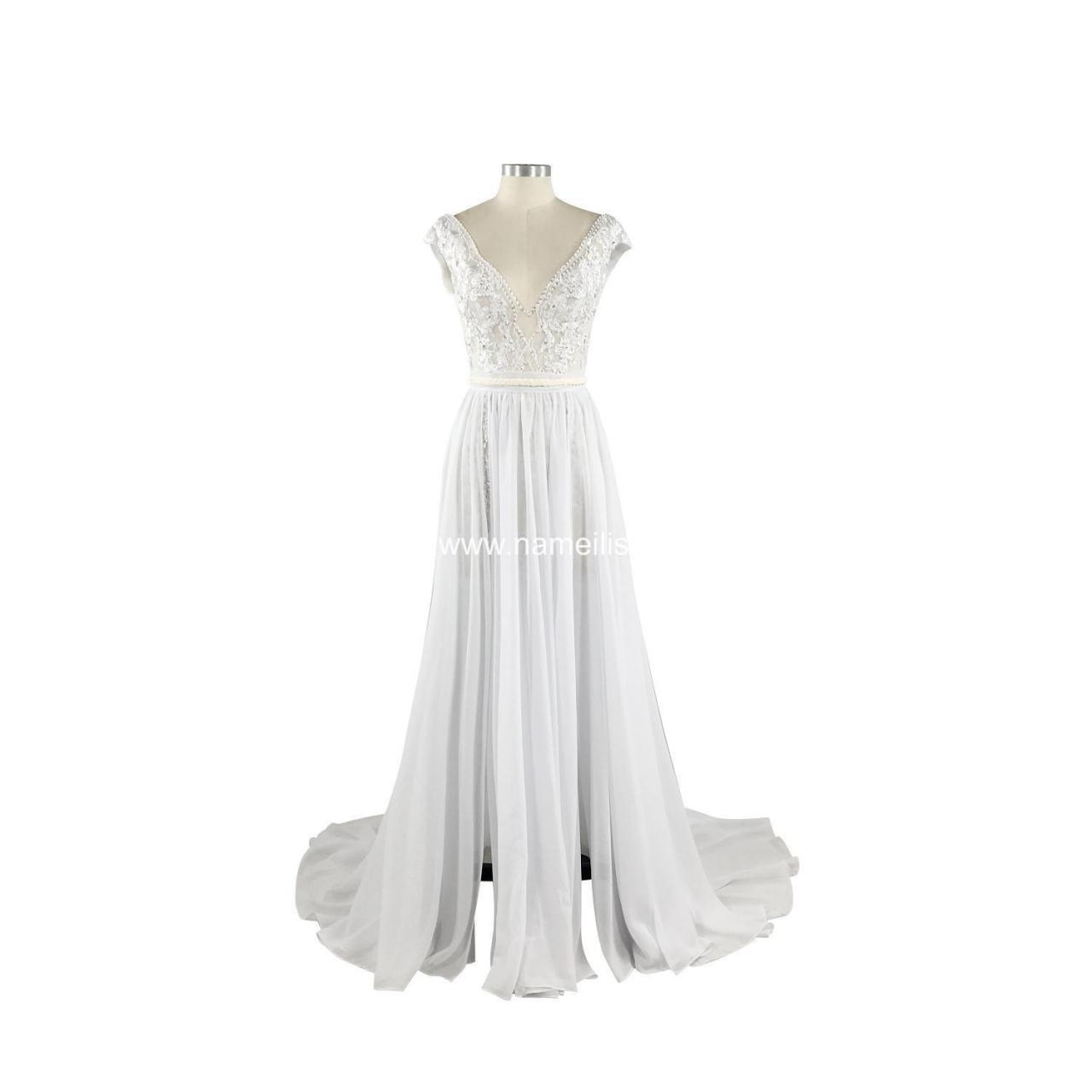 Quality A-Line Wedding Dress (10) SKU: L5107 - In Stock for sale